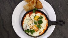 Shakshuka baked eggs at Baltaire